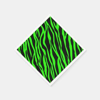 Grüner Neonzebra Striped Serviette