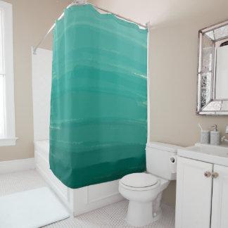 Grüner Ombre Duschvorhang