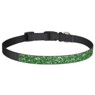 Grüner Ombre Glitter-Effekt Haustierhalsband