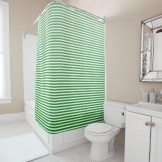 Grüner Ombre Streifen Kelly Duschvorhang