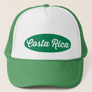 Grüner ovaler Costa Rica-Logo-Hut Truckerkappe