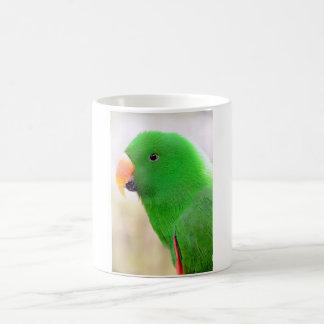 Grüner Papagei Kaffeetasse
