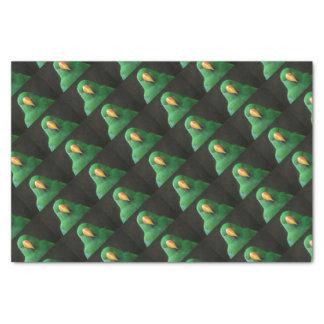 Grüner Papagei Seidenpapier
