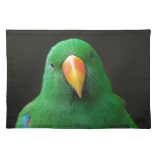 Grüner Papagei Tischset