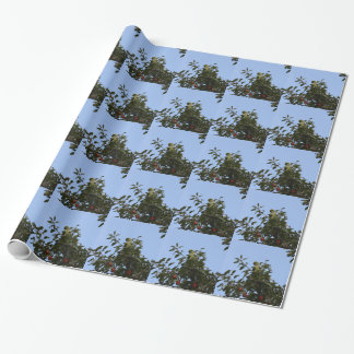 Grüner Parakeet Einpackpapier