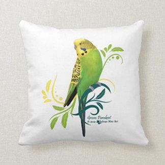 Grüner Parakeet Kissen