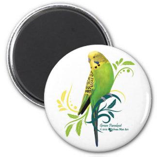 Grüner Parakeet Magnets