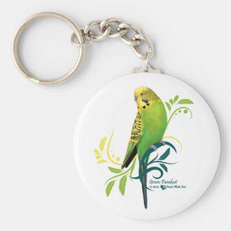 Grüner Parakeet Schlüsselanhänger
