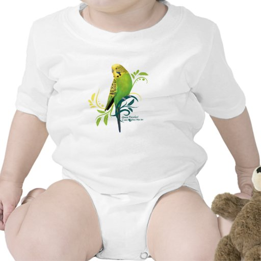 Grüner Parakeet Babybodys