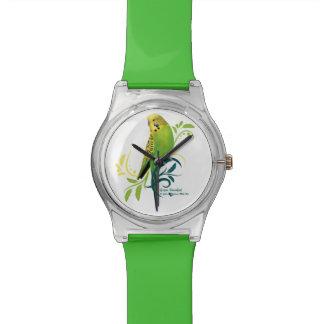 Grüner Parakeet Uhr