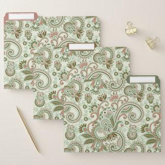 Grüner Pastellostinder mit Blumen Papiermappe