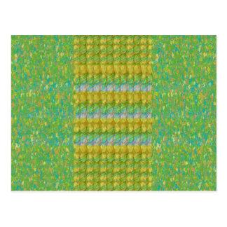 Grüner perlen-Stein-Flecken Graffiticonfetti-n Postkarten