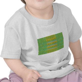 Grüner perlen-Stein-Flecken Graffiticonfetti-n T Shirts