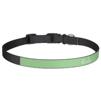 Grüner personalisierter Haustier-Kragen Apples Haustierhalsband