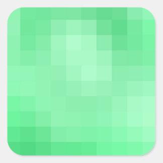 Grüner Pixel-Aufkleber Quadratischer Aufkleber