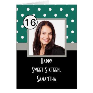 Grüner Punkt 16. Geburtstag Karte