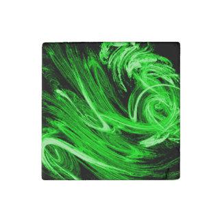 Grüner Rauch Steinmagnet