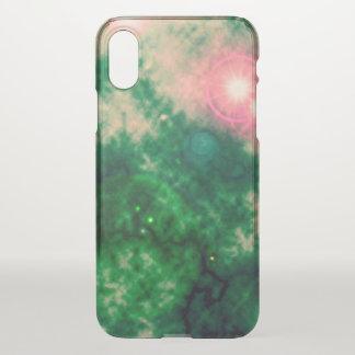 Grüner Raum-verbreiteter Nebelfleck und Supernova iPhone X Hülle