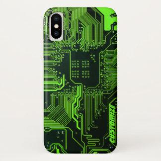 Grüner Rechnerschaltungbrett iPhone X Kasten iPhone X Hülle