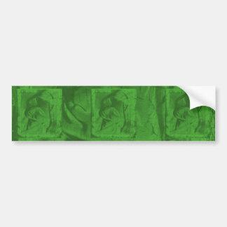 Grüner Reflexions-Autoaufkleber