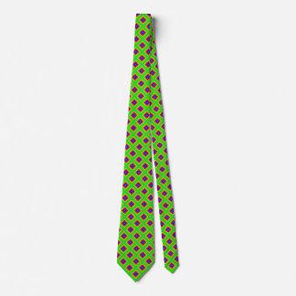 Grüner Regenbogen-Diamant geometrische 2 Individuelle Krawatte