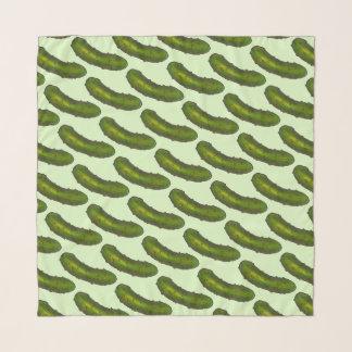 Grüner reiner Dillgurke-Druck-saurer Schal