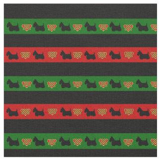 Grüner, roter, schwarzer Streifen, Stoff