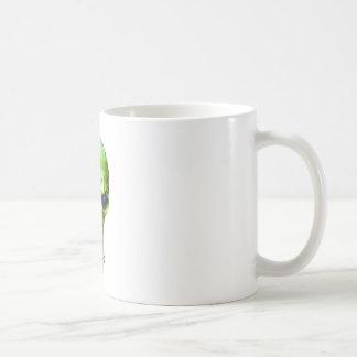 Grüner Schädel Kaffeetasse