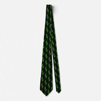 Grüner Schädel Krawatte