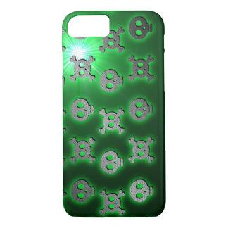 Grüner Schädel-Sprung iPhone 8/7 Hülle