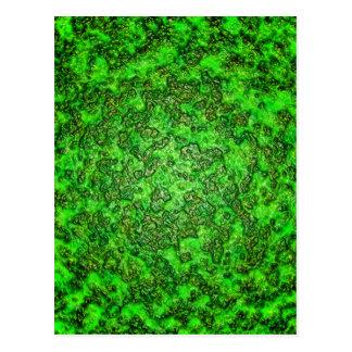 Grüner Schlamm Postkarte