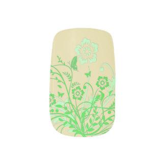 Grüner Schmetterlings-Strudel Minx Nagelkunst
