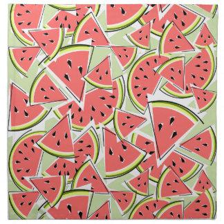 Grüner Serviettenstoff der Wassermelone Serviette