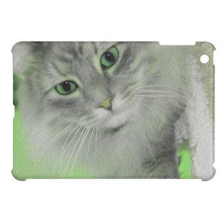 Grüner sibirischer Katze iPad Neonkasten Hüllen Für iPad Mini