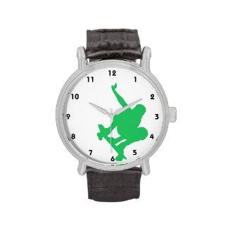 Grüner Skater Kelly Uhr