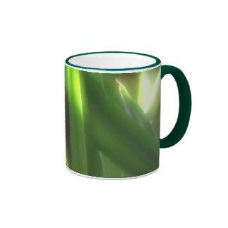 Grüner Sonnenschein Ringer Tasse