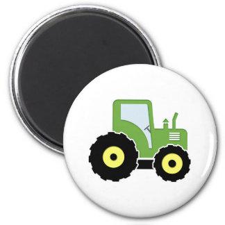 Grüner Spielzeugtraktor Runder Magnet 5,7 Cm