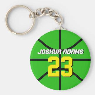 Grüner Sport-Team-Athleten-Basketball Keychain Schlüsselanhänger