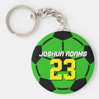 Grüner Sport-Team-Fußball Keychain Schlüsselanhänger