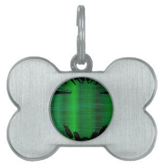 Grüner Spritzen-Hintergrund Tiermarke