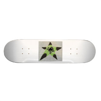 Grüner Stern-Skateboard Dunkelheits-Held 18,1 Cm Old School Skateboard Deck