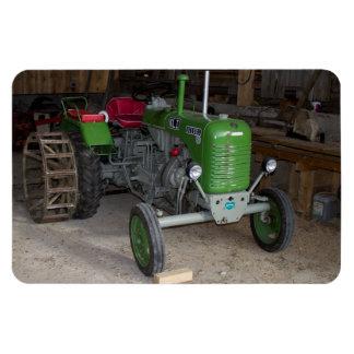 Grüner Steyr Traktor Kiloliter I Recchteckiger Magnet