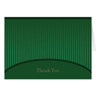 Grüner Streifen danken Ihnen zu kardieren Karte