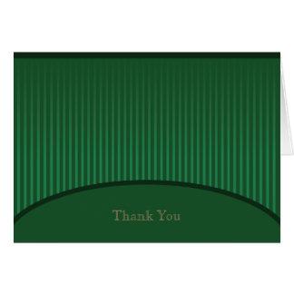 Grüner Streifen danken Ihnen zu kardieren Mitteilungskarte