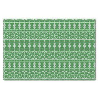 Grüner Strick-Pullover-hässliches Seidenpapier