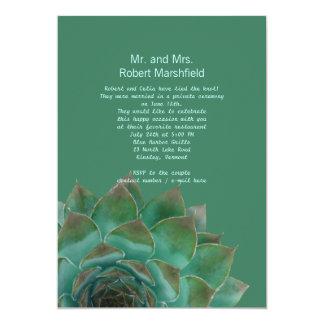 Grüner Succulents Posten-Hochzeit 12,7 X 17,8 Cm Einladungskarte