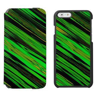 Grüner Süßigkeits-Streifen Incipio Watson™ iPhone 6 Geldbörsen Hülle