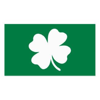 Grüner Tag Irland Kleeblatt-St. Patricks Visitenkartenvorlage