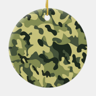 Grüner TAN-Schwarz-Tarnungs-Muster-Hintergrund Keramik Ornament