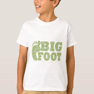 Grüner Tarnung Bigfoot-Text T-Shirt